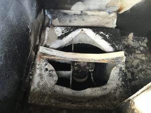 Fire damaged fan
